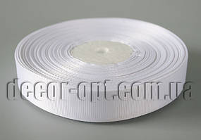Лента репсовая белая 2,0 см 25 ярд арт.01