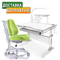 Ученические парты для дома Evo-30 New c лампой + кресло Match