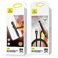USB Cable Usams US-SJ379 Port Suction Cup U39 Lightning Black 1.2m, фото 1