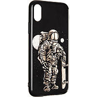 Space Silicon Case for iPhone X/XS №3 Black, фото 1