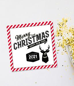 """Новогодняя открытка """"Merry Christmas 2021"""""""