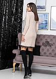 """Платье из трикотажа свободного кроя с кружевом """"Galaxy"""" I Норма, фото 7"""