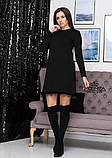 """Платье из трикотажа свободного кроя с кружевом """"Galaxy"""" I Норма, фото 8"""