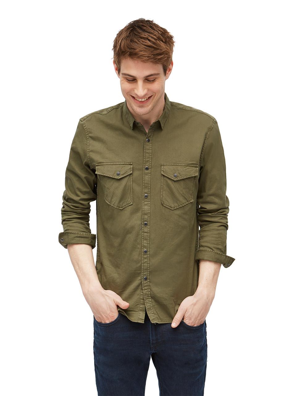 Рубашка Tom Tailor 1002697 S Хаки