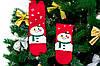🎄 Красные новогодние носки со снеговиком в шарфе36-41 размер Золото