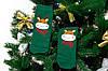🎄 Зелёные новогодние носки с оленями 37-41 размер MERRY CHRISTMAS Золото