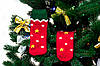 🎄 Красные новогодние носки эльфов 37-41 размер MERRY CHRISTMAS Золото