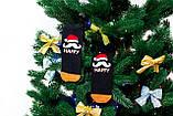 🎄 Черные новогодние носки с Дедом Морозом HAPPY NEW YEAR 37-41 размер Золото, фото 3