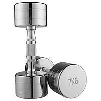 Гантель для фитнеса 7 кг хромированная (1 шт) 80034B-7