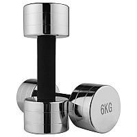 Гантель для фитнеса хром 6кг (1шт) 80034C-6