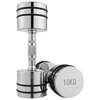 Гантель для фитнеса 10 кг хромированная (1 шт) 80034D-10