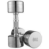 Гантель для фитнеса 6 кг хромированная (1 шт) 80034B-6