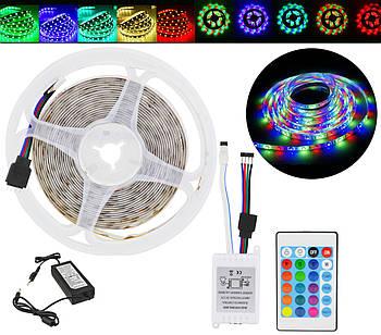 Стрічка світлодіодна в силіконі (вологозахищена) RGB 5050 - повний комплект 5 метрів (2032)
