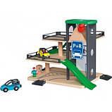 Великий набір дерев'яна яної залізниці, машинок PlayTive + пластиковий бокс ikea 233 їв, фото 5