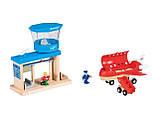 Великий набір дерев'яна яної залізниці, машинок PlayTive + пластиковий бокс ikea 233 їв, фото 6