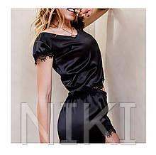 Женская атласная пижама Black Panther (size м)