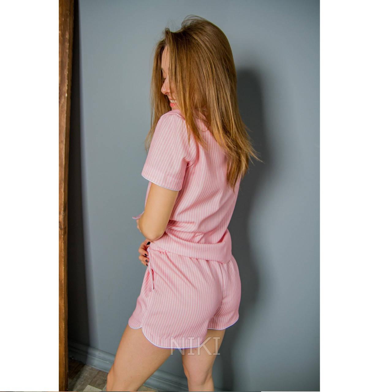 Женская льняная пижама для комфортного сна Pinky (size XL)