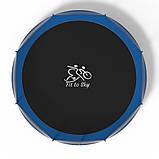 Батут FitToSky 435см с лесенкой синий, фото 3