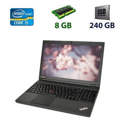 "Lenovo ThinkPad T540p / 15.6"" (1920x1080) TN / Intel Core i5-4300M (2 (4) ядра по 2.6 - 3.3 GHz) / 8 GB DDR3 /, фото 2"