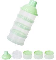 Контейнер для хранения детских смесей прозрачный, Belove Green