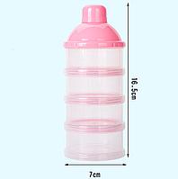 Контейнер для хранения детских смесей прозрачный, Belove Pink (BE1717081220)