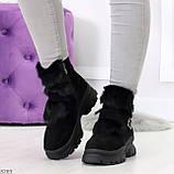 Роскошные черные зимние женские ботинки из натуральной замши с опушкой 36-23 37-23,5 40-25см, фото 8