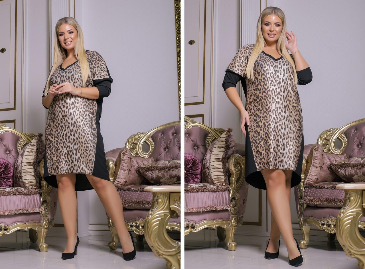 Женское нарядное платье Лео серебро 8438