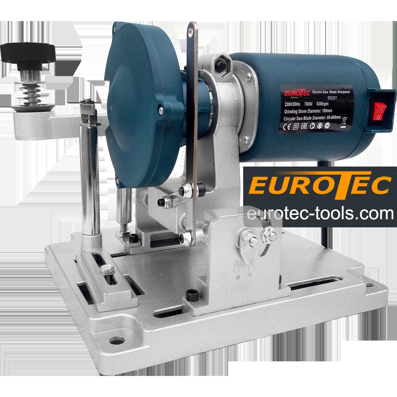 Заточной станок для пильных дисков 90-400 мм Eurotec SS201, станок для заточки дисковых пил с напайками