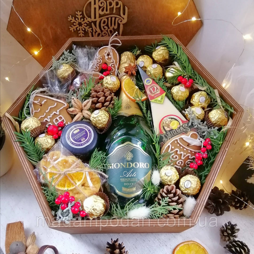 Новогодний набор с шампанским