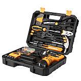 Аккумуляторный шуруповерт DEKO + набор 104 инструментов в кейсе, фото 2