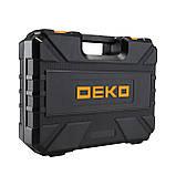 Аккумуляторный шуруповерт DEKO + набор 104 инструментов в кейсе, фото 4