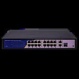 Коммутатор сетевой POE GreenVision GV-010-D-16+2 PG+1 SFP, фото 2