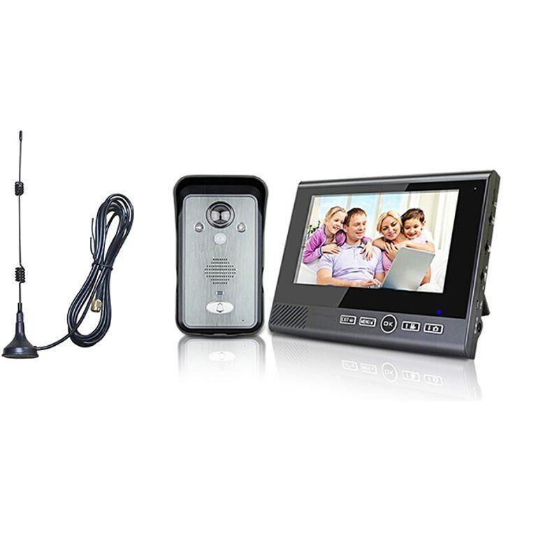 """Беспроводной видеодомофон с датчиком движения, 7"""" дюймовым монитором Kivos KDB702+, дальностью до 300 метров,"""