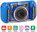 VTech KidiZoom Детский цифровой фотоаппарат 80-520000 Duo DX Digital Selfie Camera with MP3 Player Blue, фото 7