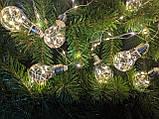 Ретро лампочки гирлянда проволока Капля Росы 4 м, 70 LED, 10 ламп, от сети 8 режимов, фото 2