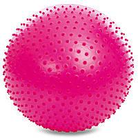 Мяч для фитнеса (фитбол) полумассажный 2в1 65см Zelart FI-4437-65