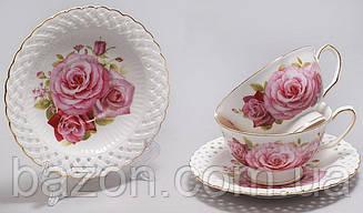 """Чайний сервіз """"Букет троянд"""" 220мл 12 предметів"""