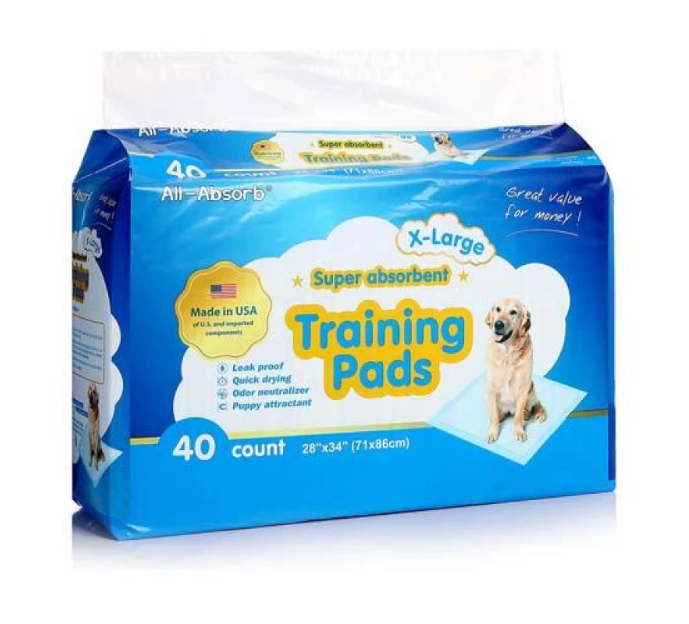 Пелюшки All-Absorb Regular для собак 71х86 см 40 шт