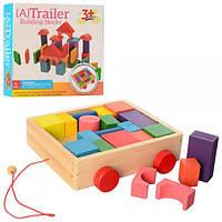 Деревянная игрушка Городок MD 2346, Пирамидки, кубики, городки, шарики