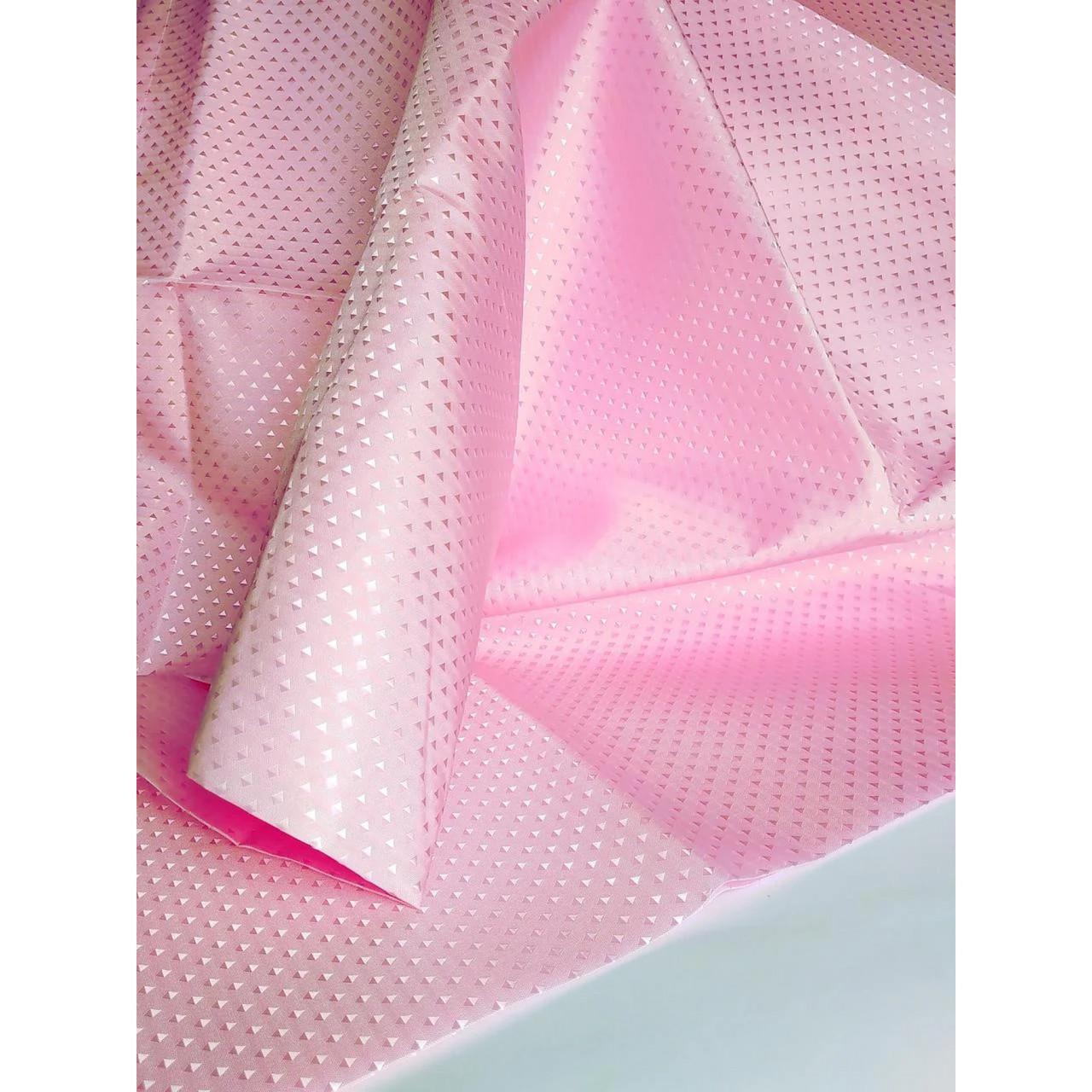 Шторка для ванной текстиль 180х180 розовая