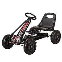 Детский педальный карт надувные колеса Bambi M 0645-2 черный