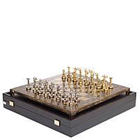 Шахматы Manopoulos, Битва титанов, латунь, в деревянном футляре, 36х36см Коричневый (S18MBRO )