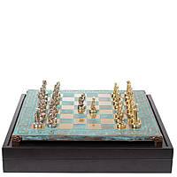 Шахматы Manopoulos, Битва титанов, латунь, в деревянном футляре, 36х36см Бирюзовый (S18MTIR)
