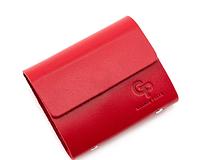 Женская кожаная визитница на 48 карт, женская визитница красный Grande Pelle 312260