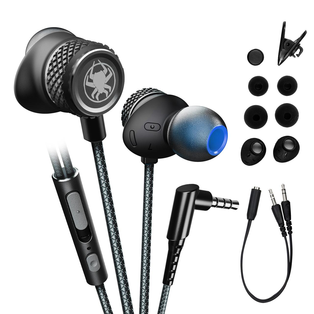 Проводные вакуумные игровые стерео наушники  (1.2м) геймерская гарнитура с микрофоном для для ПК ноутбука PS4