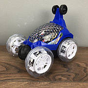 Трюковая машинка багги перевертыш Мстители машина на радиоуправлении пульте джип синяя