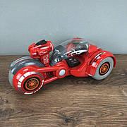 Мотоцикл на радиоуправлении Virus Hunter с дезинфектором машинка на пульте управления детский красный