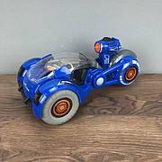 Мотоцикл на радиоуправлении Virus Hunter с дезинфектором машинка на пульте управления детский синий