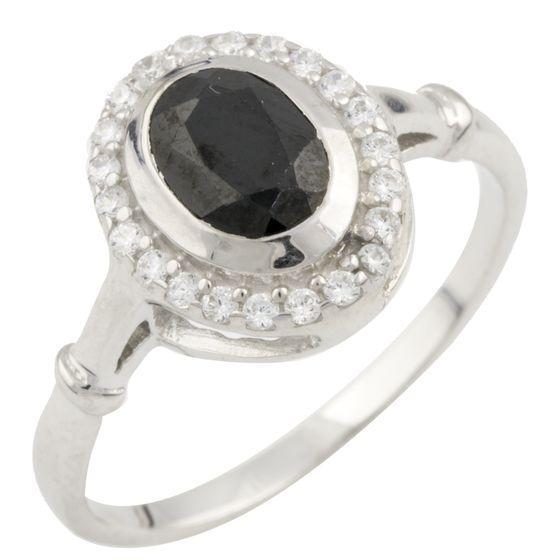 Серебряное кольцо DreamJewelry с натуральным сапфиром 1.29ct (0468518) 18 размер