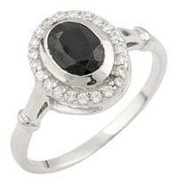 Срібне кільце DreamJewelry з натуральним сапфіром 1.29 ct (0468518) 18 розмір